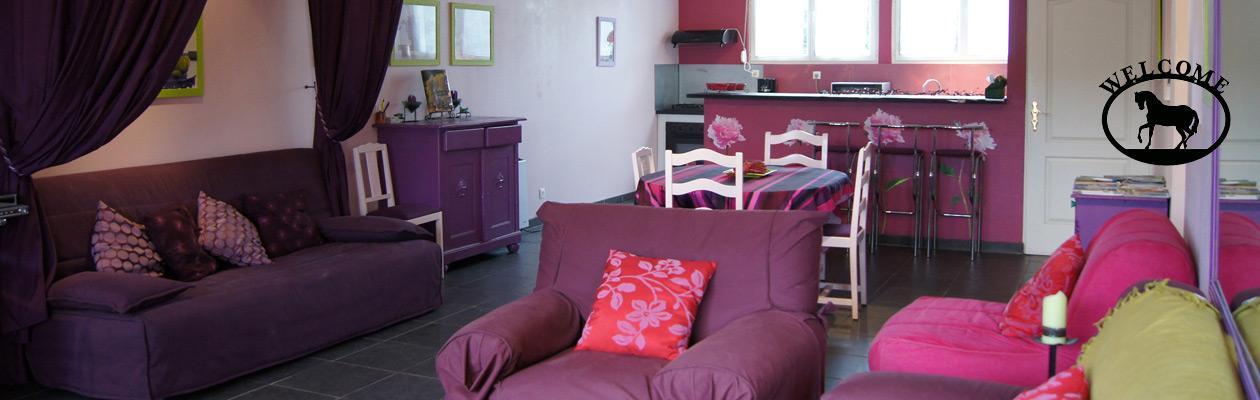Le salon, salle à manger